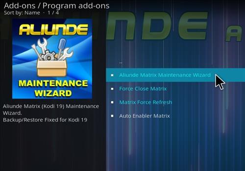 How To Install Aliunde Kodi 19 Matrix Maintenance Wizard Step 19