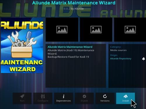 How To Install Aliunde Kodi 19 Matrix Maintenance Wizard Step 20