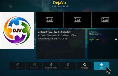 How To Install DejaVu Kodi Addon Ver101 Step 19