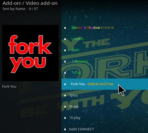 How To Install Fork You Kodi Add-on Step 17