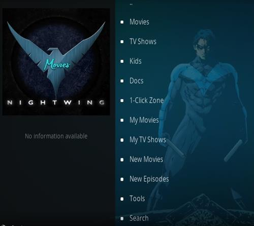 How To Install Nightwing Kodi Add-on Overview