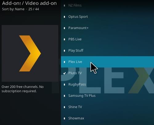 How To Install Plex Live Kodi Add-on Step 19