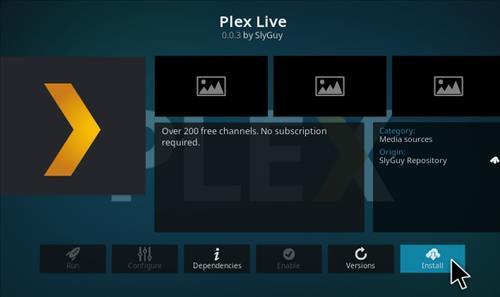 How To Install Plex Live Kodi Add-on Step 20