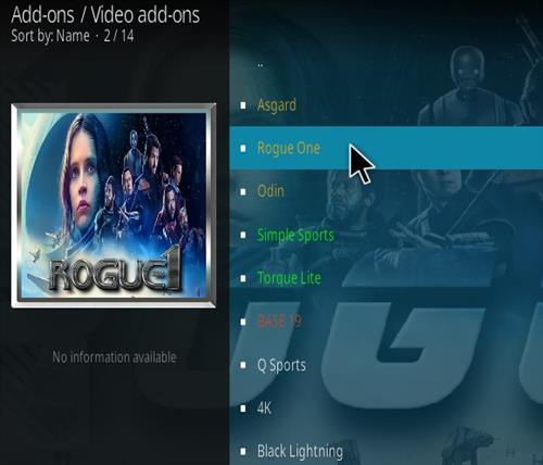 How To Install Rogue One Kodi Addon Ver 113 Step 18
