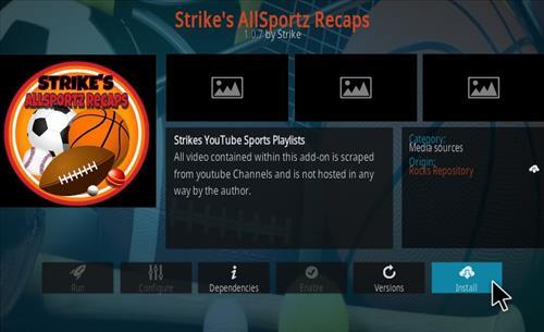 How To Install Strike's AllSportz Recaps Kodi Add-on Step 18