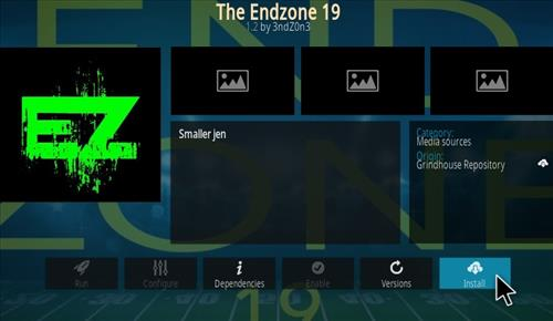 How To Install The End-Zone 19 Kodi Video Addon Ver 1.2 Update Step 19