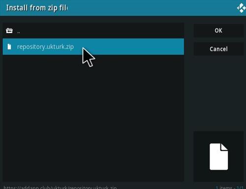 How To Install UK Turk's Playlists Kodi Addon New URL Step 13