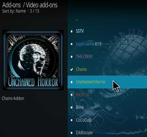 How To Install Unchained Horror Kodi Add-on Step 18