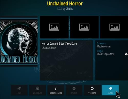 How To Install Unchained Horror Kodi Add-on Step 19