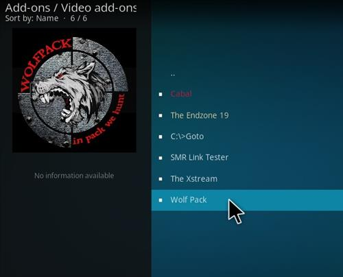 How To Install Wolf Pack Kodi Add-on Step 18