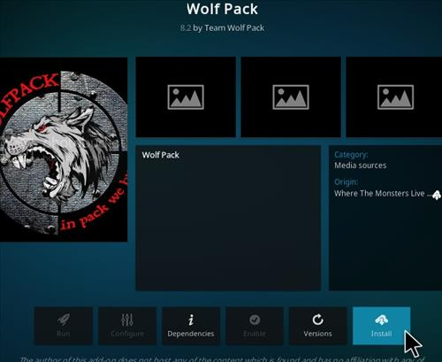 How To Install Wolf Pack Kodi Add-on Step 19