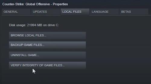 How To Verify CSGO Integrity Of Game Files Step 4