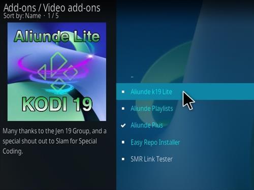 How To Install Aliunde K19 Lite Kodi Add-on Step 18