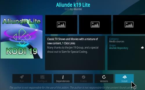 How To Install Aliunde K19 Lite Kodi Add-on Step 19
