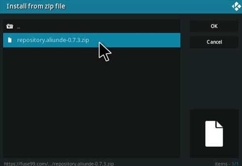 How To Install Aliunde Plus Kodi Add-on Ver 73 Step 13