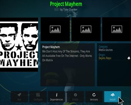 How To Install Project Mayhem Kodi Add-on Step 19