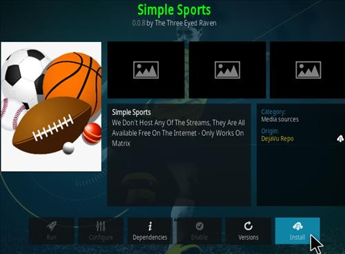 How To Install Simple Sports Kodi Addon Update Step 19
