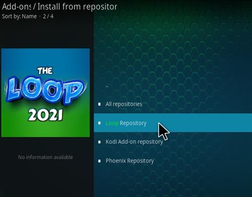 How To Install The Loop 2021 Kodi Sports Add-on Update Step 16