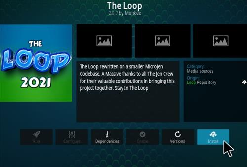How To Install The Loop 2021 Kodi Sports Add-on Update Step 19