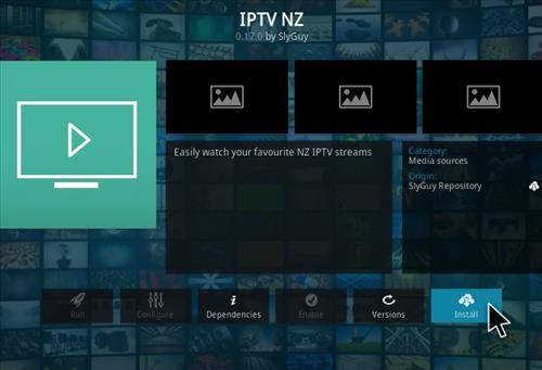 How To Install IPTV NZ Kodi Addon Step 19