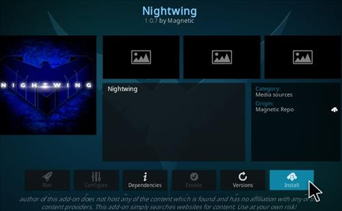 How To Install Nightwing Kodi Add-on Ver 107 Step 19