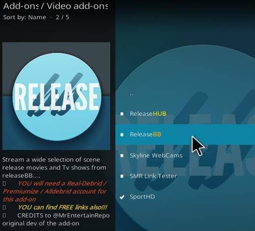 How To Install Release BB Kodi Add-on Update Step 17