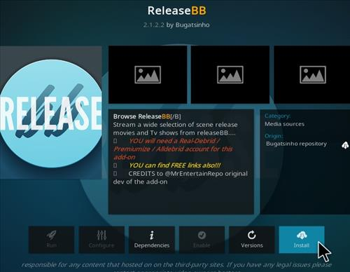 How To Install Release BB Kodi Add-on Update Step 18