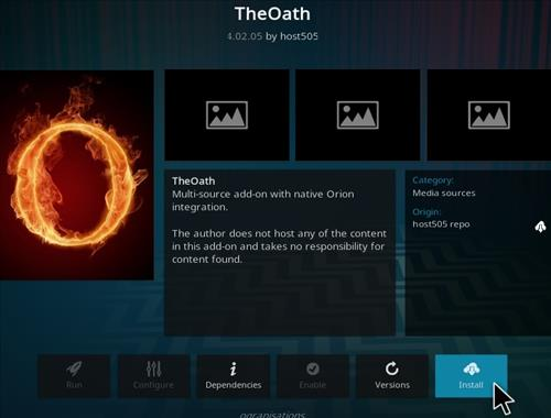 How To Install The Oath V401 Kodi Addon Step 19