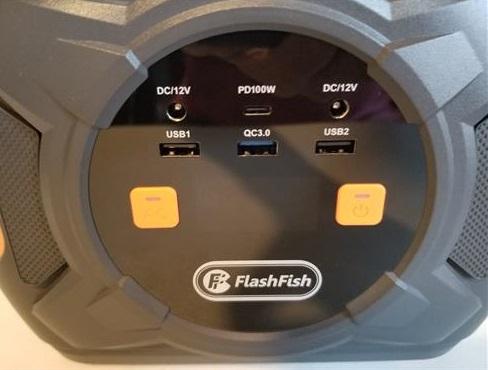 Review FLASHFISH A301 Portable Power Station USB Ports